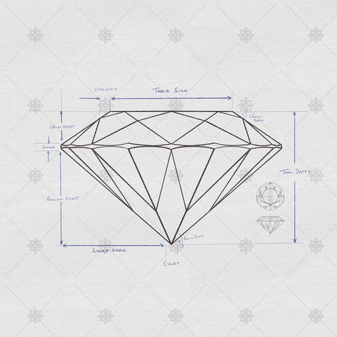 Diamond Proportions and Anatomy Sketch - SK1059