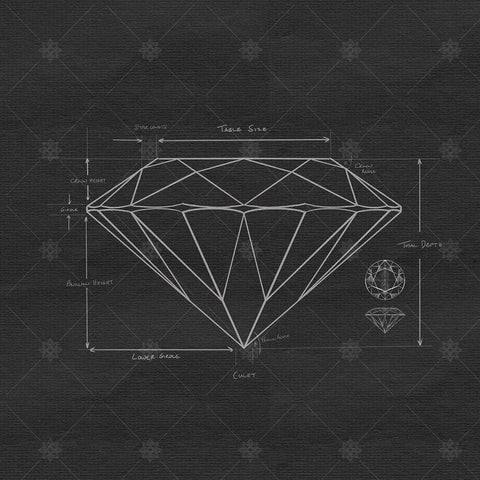 Diamond Proportions and Anatomy Sketch - SK1060