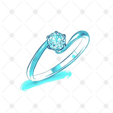 Solitaire Twist Ring Colour Drawing - SK1021