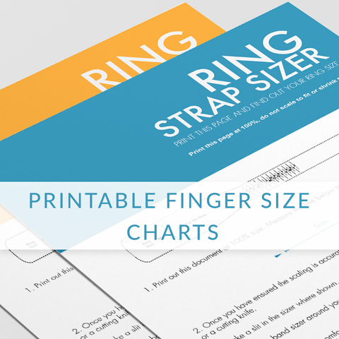 Printable Finger Size Measurement - ED1009