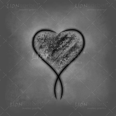 Black Valentines Heart illustration