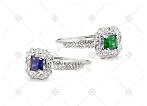 Vintage Gemstone Rings - NE1009