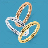 Colour wedding ring image pack Yellow, White and Rose Gold