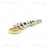 Line of wedding rings