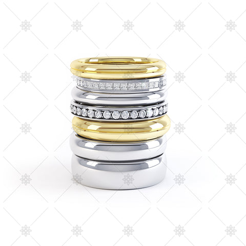 Stacked Wedding Rings - WP1001
