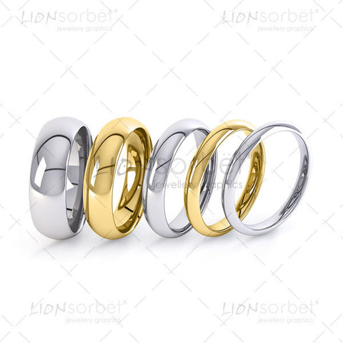 Wedding rings widths