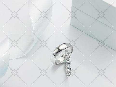 Diamond Wedding Rings Set - MJ1022