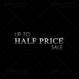 Half Price Sale image for website use - web banner