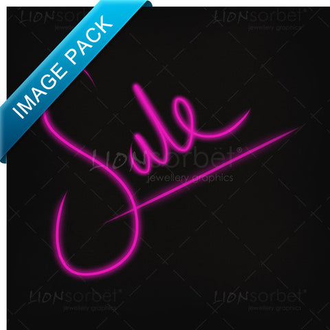 Image of SALE TEXT Pink on black