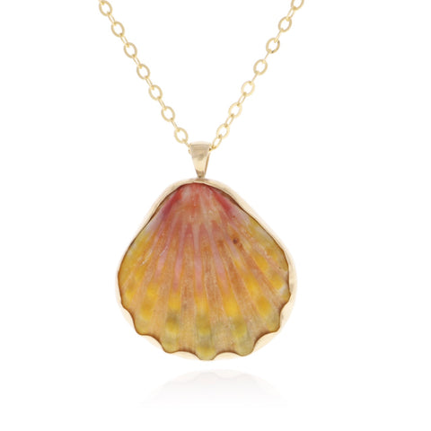 Custom Gold Sunrise Shell Necklace