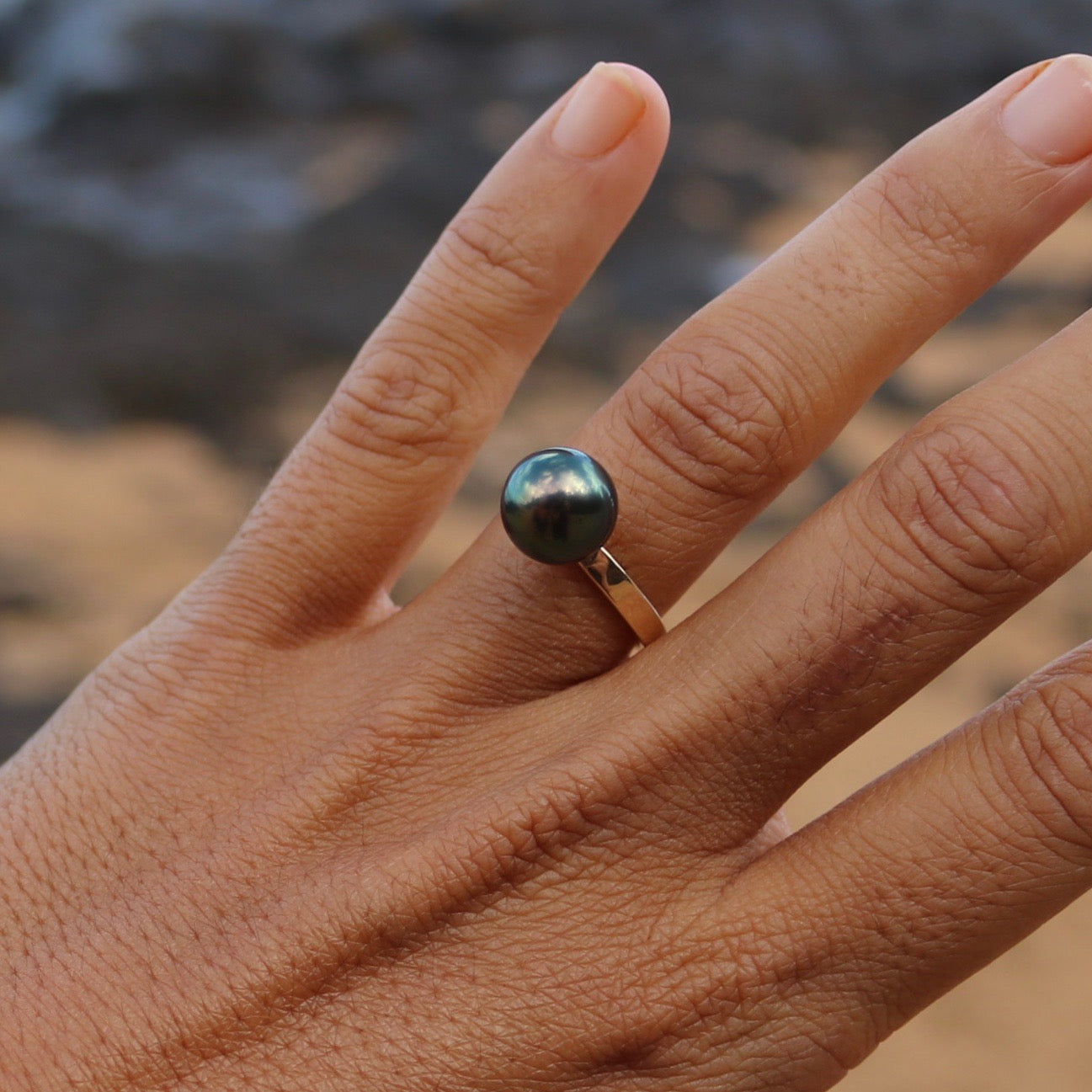 Tahitian Pearl Ring in 14K gold