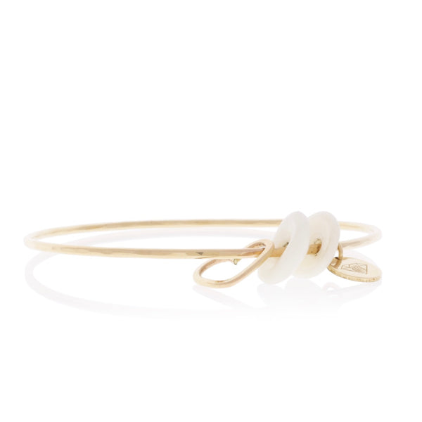 Puka Shell Charm Bangle