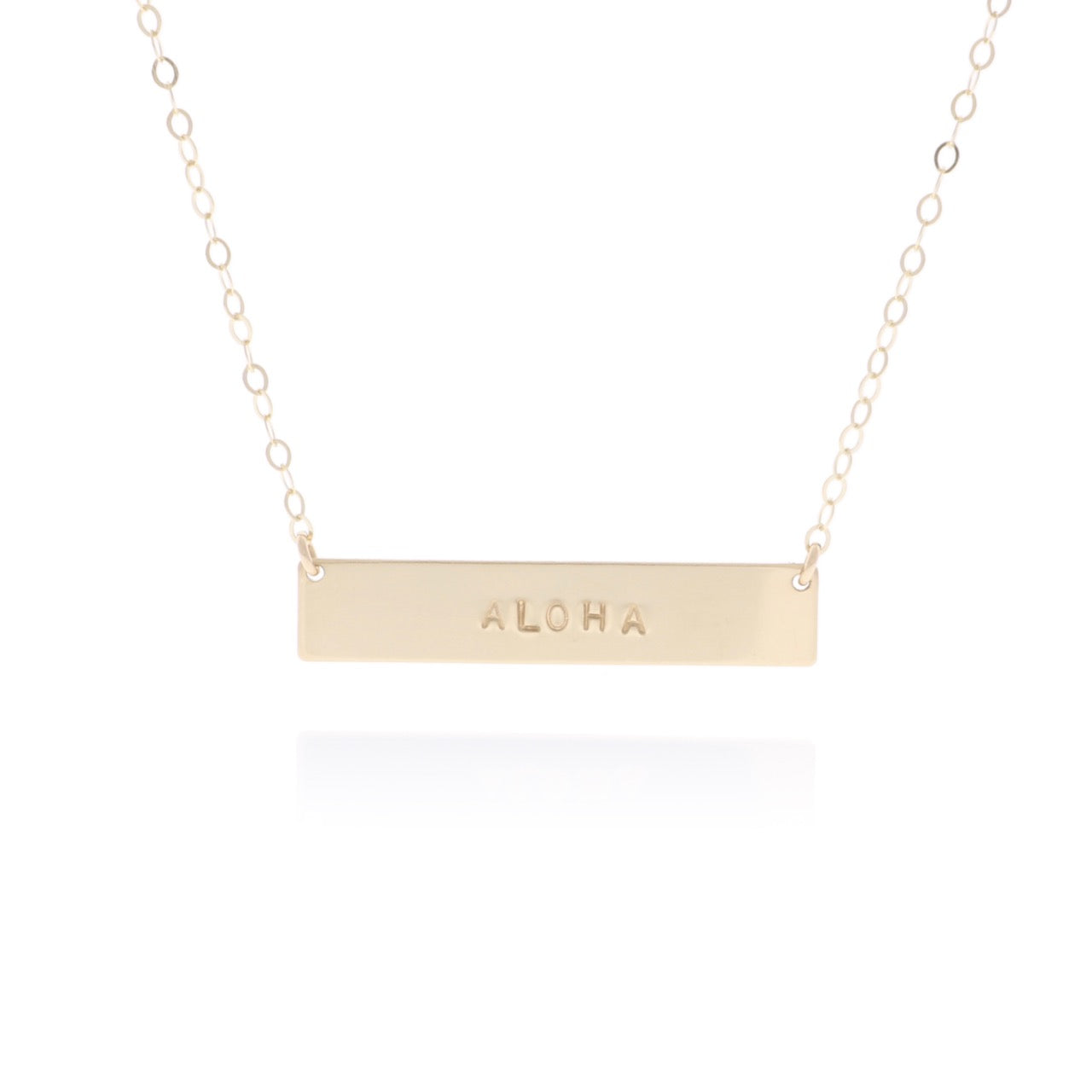 Personalized Bar Necklace in Gold
