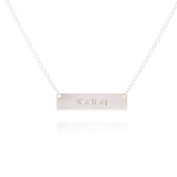 Personalized Bar Necklace in Silver