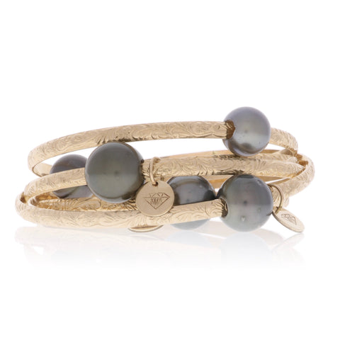 Hawaiian Heirloom Tahitian Pearl Bangles
