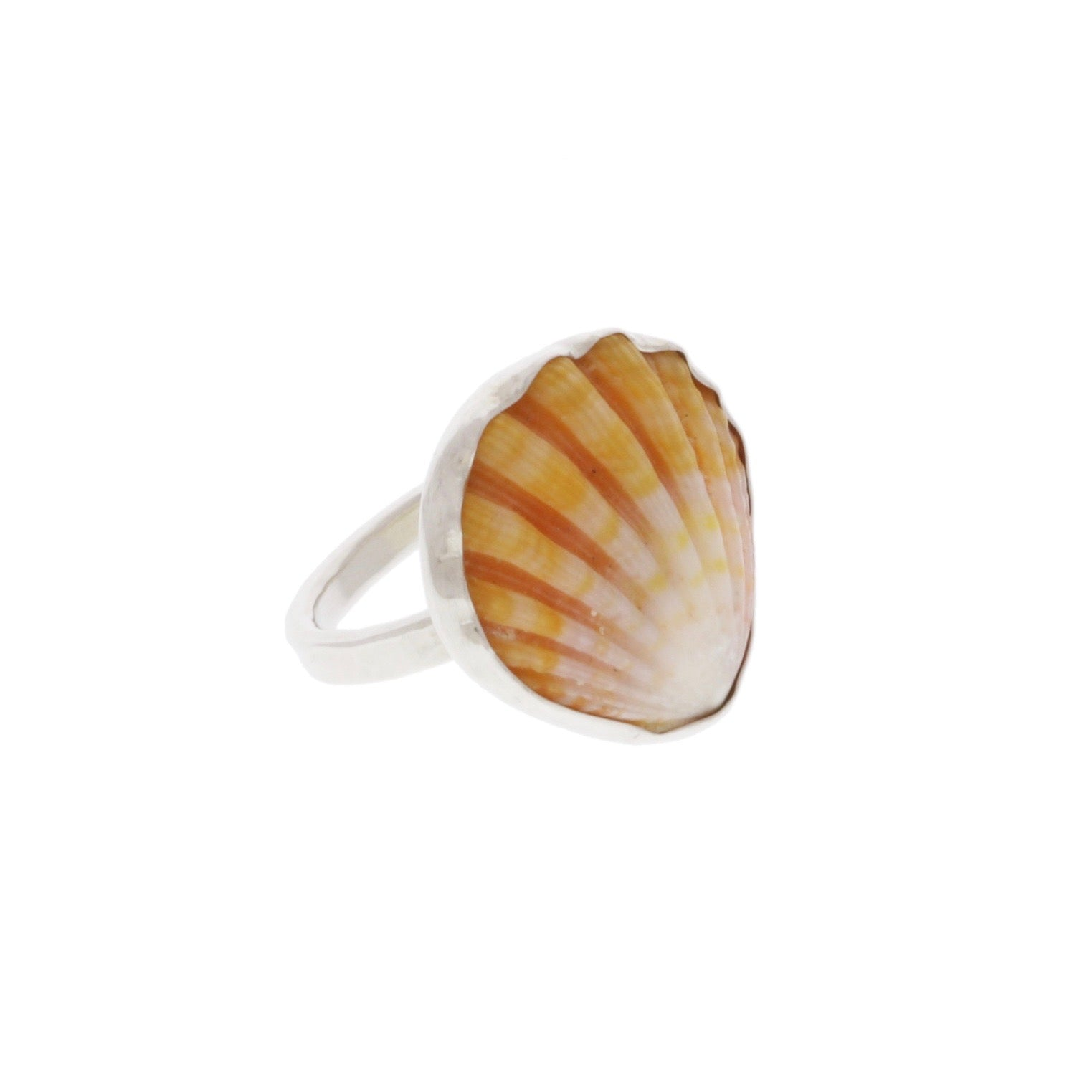 Sunrise Shell Ring in Sterling Silver