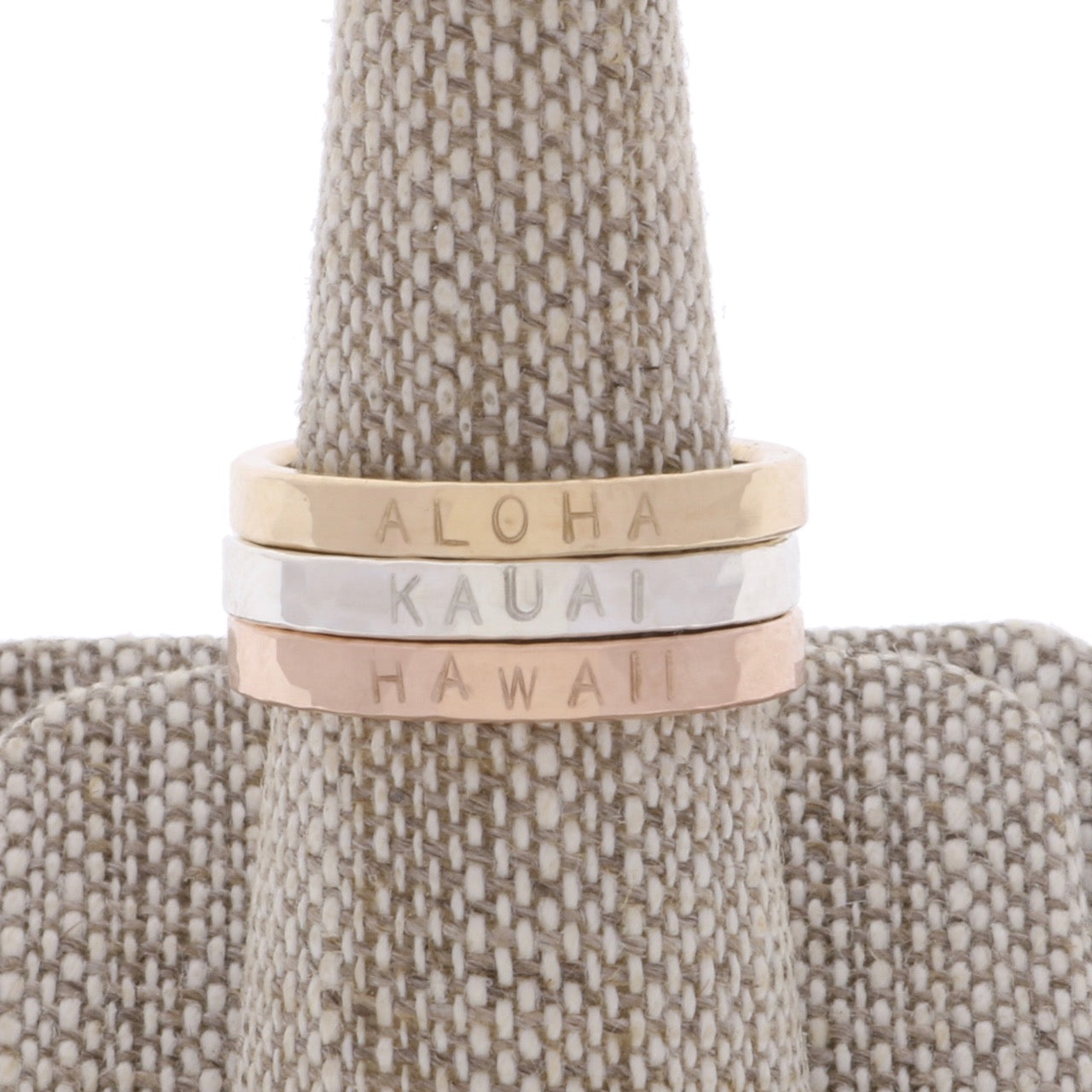 Thick Personalized Stackable Ring