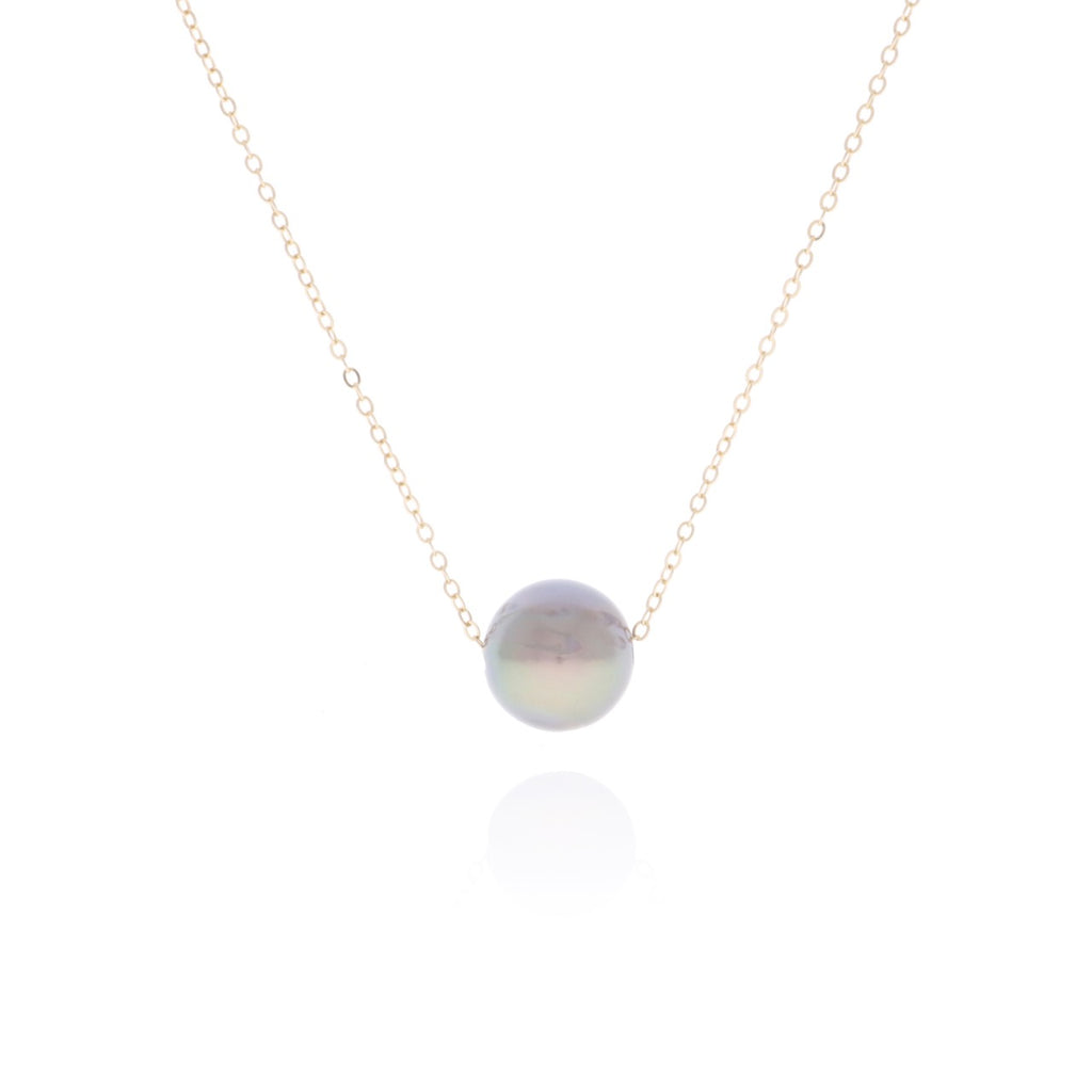 2d3fcfd9e5362 14K Gold Floating Tahitian Pearl Necklace