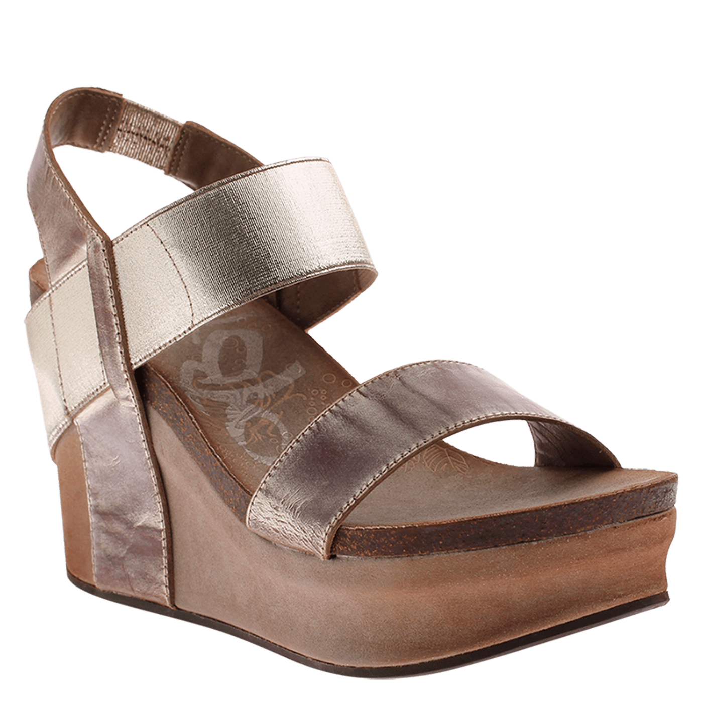 787c6a2792f Bushnell in Gold Wedge Sandals