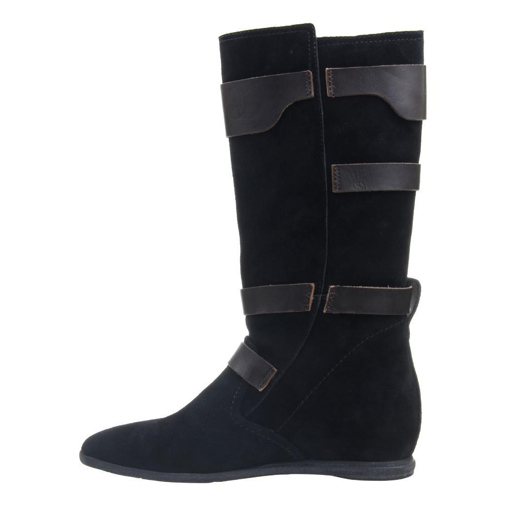 CALAMITY in BLACK SUEDE Mid-Shaft Boots
