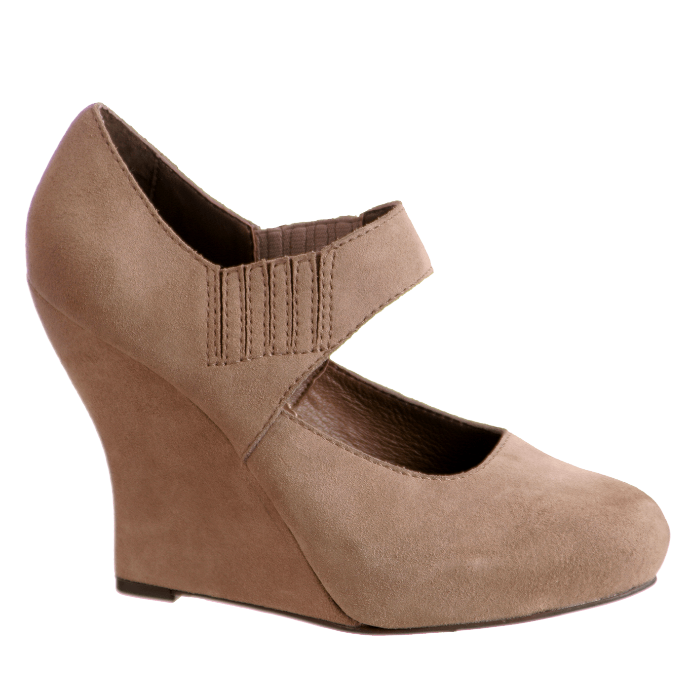 c5680570b66 Piccolo in Taupe Grey Closed Toe Wedges