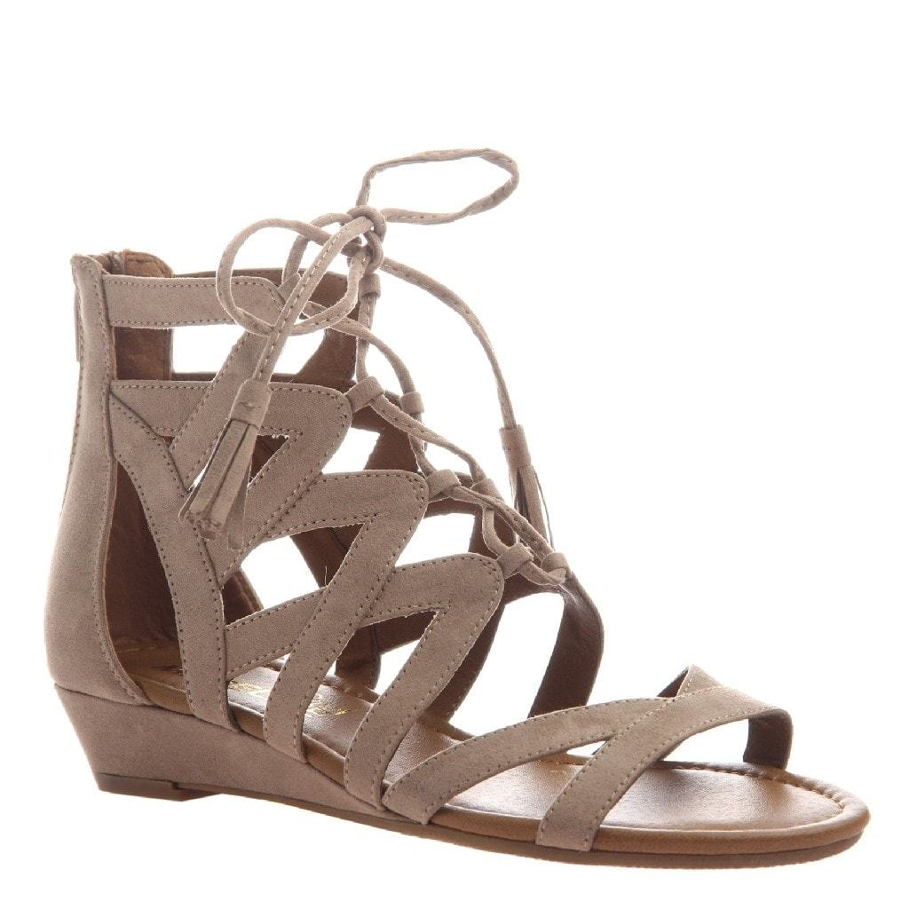 Saturate in Mid Taupe Flat Sandals