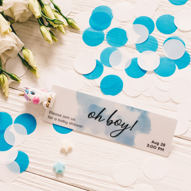 CUSTOM BABY SHOWER INVITATION BOOKMARK