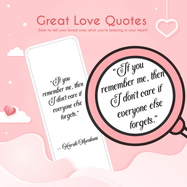 RAINBOW TAIL BOOKMARK + Great Love Quotes template