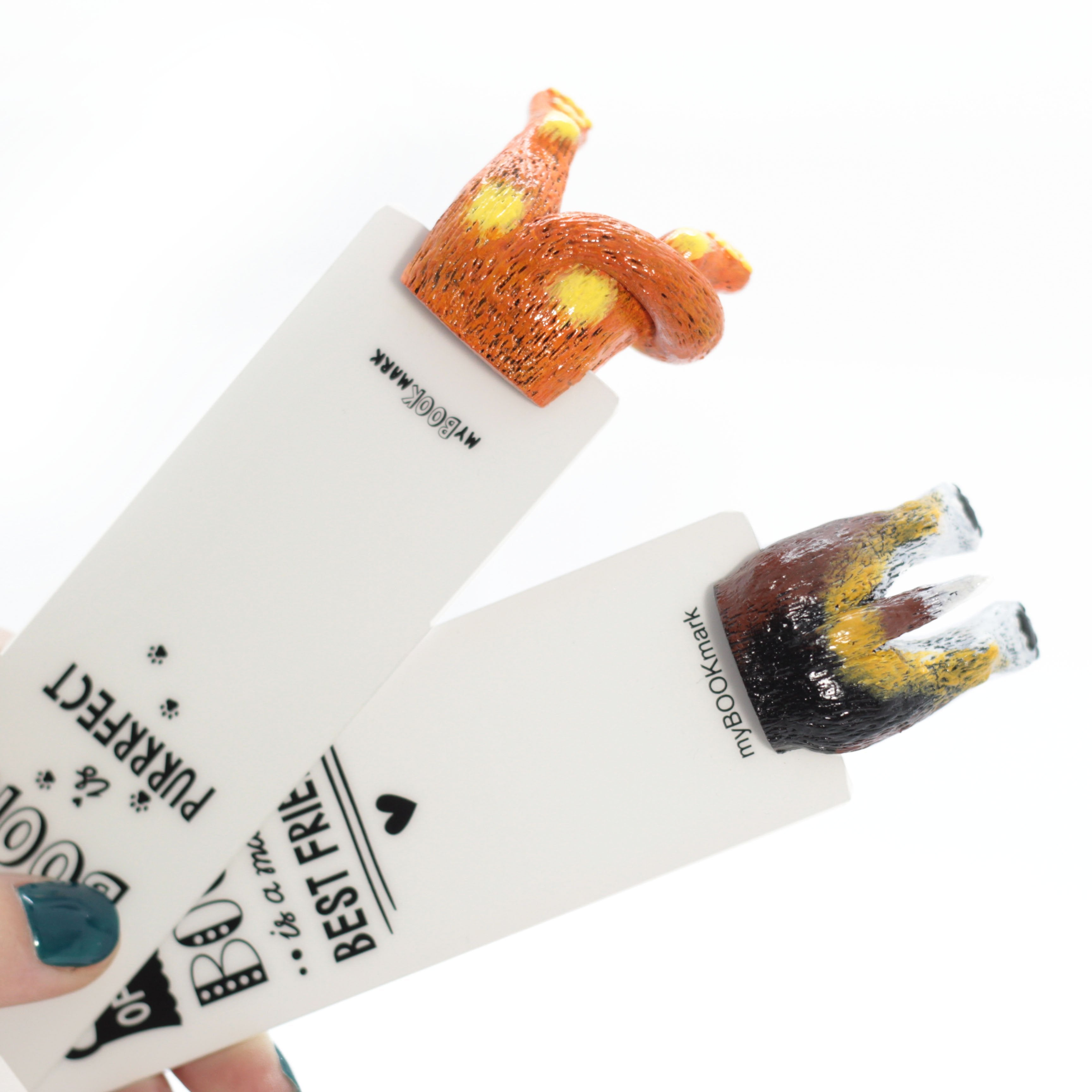 Red Cat & Beagle Bookmarks Set - MYBOOKMARK