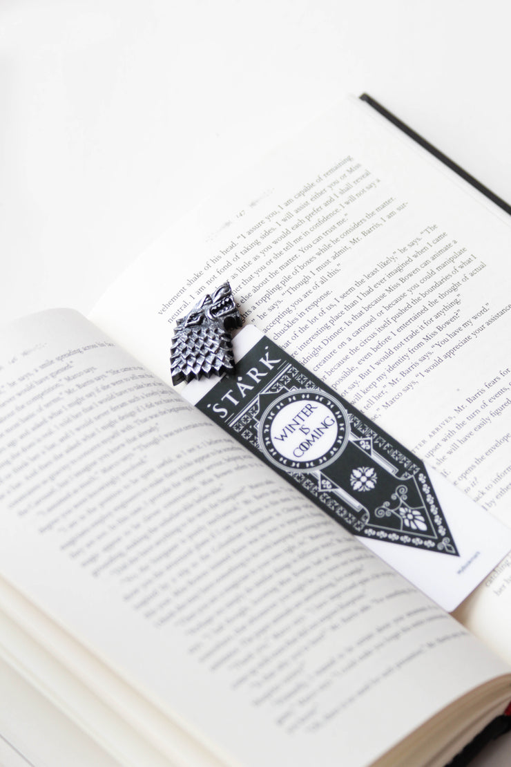 House Stark Game Of Thrones Bookmark Booklover - MYBOOKMARK