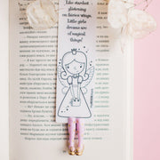 Airy-Fairy Handmade Bookmark