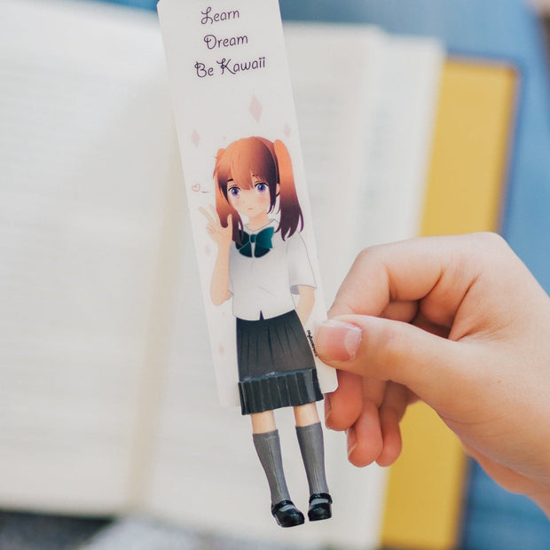 Anime School Girl Bookmark