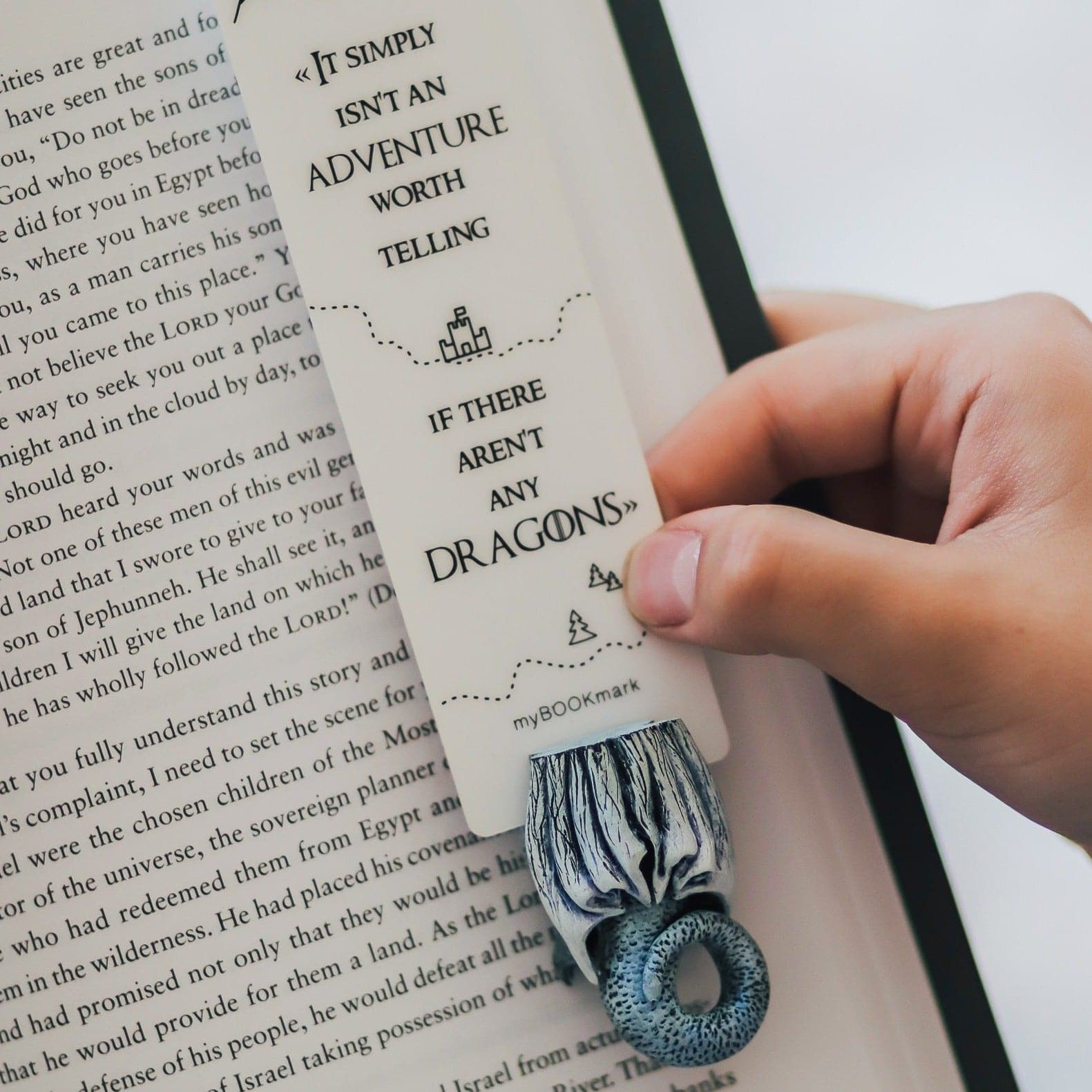 White Dragon Game Of Thrones Bookmark