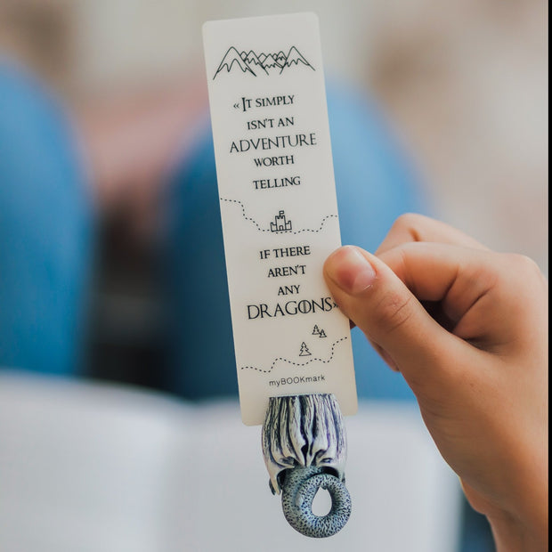 White Dragon Game Of Thrones Bookmark - MYBOOKMARK