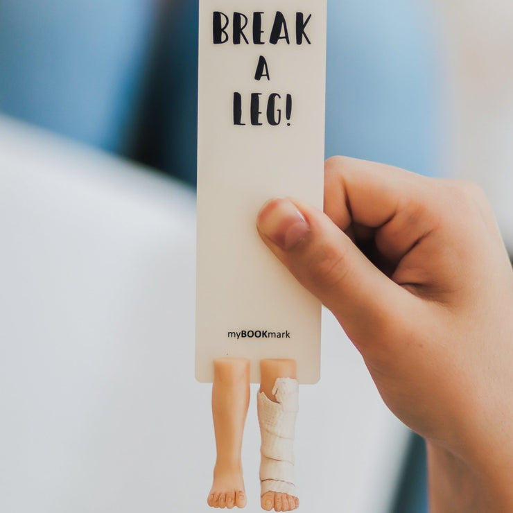 Broken Leg Bookmark - MYBOOKMARK