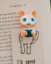 Kitty Reader Handmade Bookmark