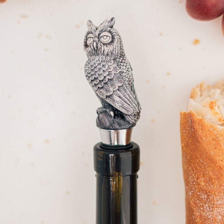 Metal Owl Wine Stopper Holder