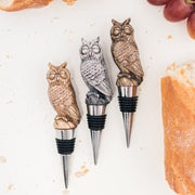 Metal Owl Bottle Stopper Holder