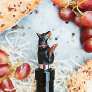 Doberman Wine Stopper Holder