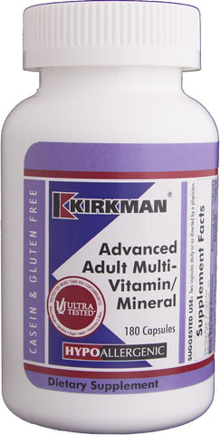Advanced Adult Multi-Vitamin/Mineral - Hypoallergenic - 180 ct