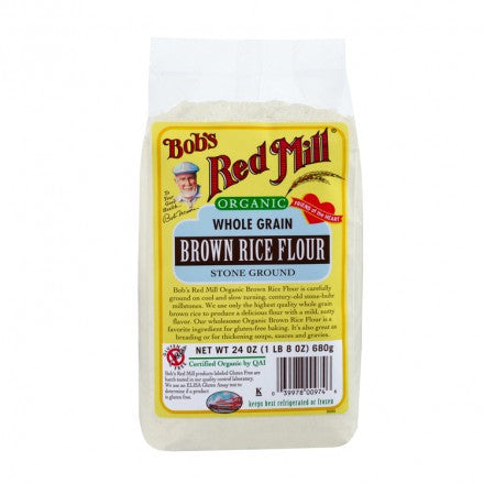 Bobs Red Mill Flour: Brown Rice Whole Grain