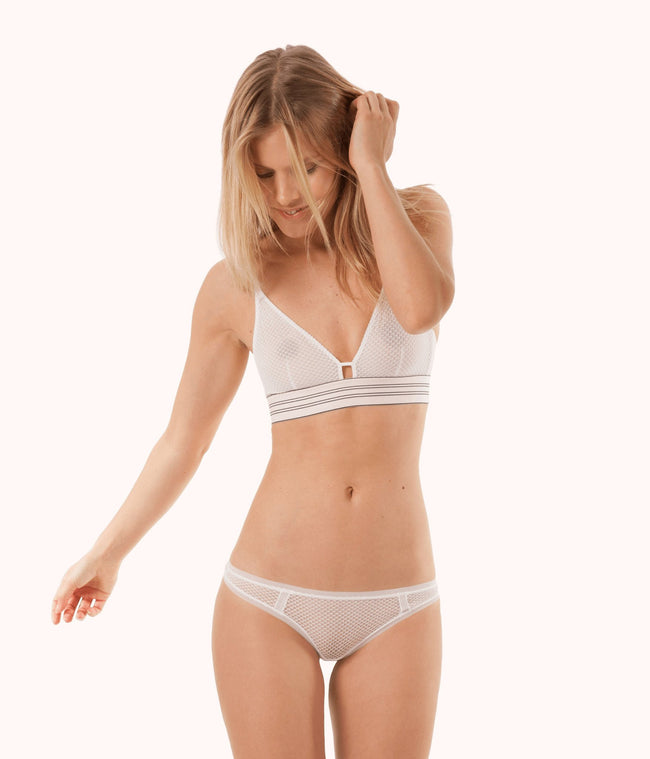 The Geo Lace Bikini: Bright White