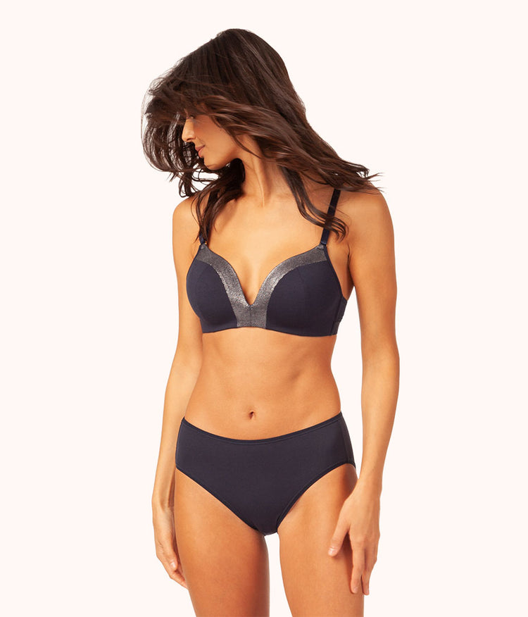 The Metallic All-Day No-Wire: Midnight Navy