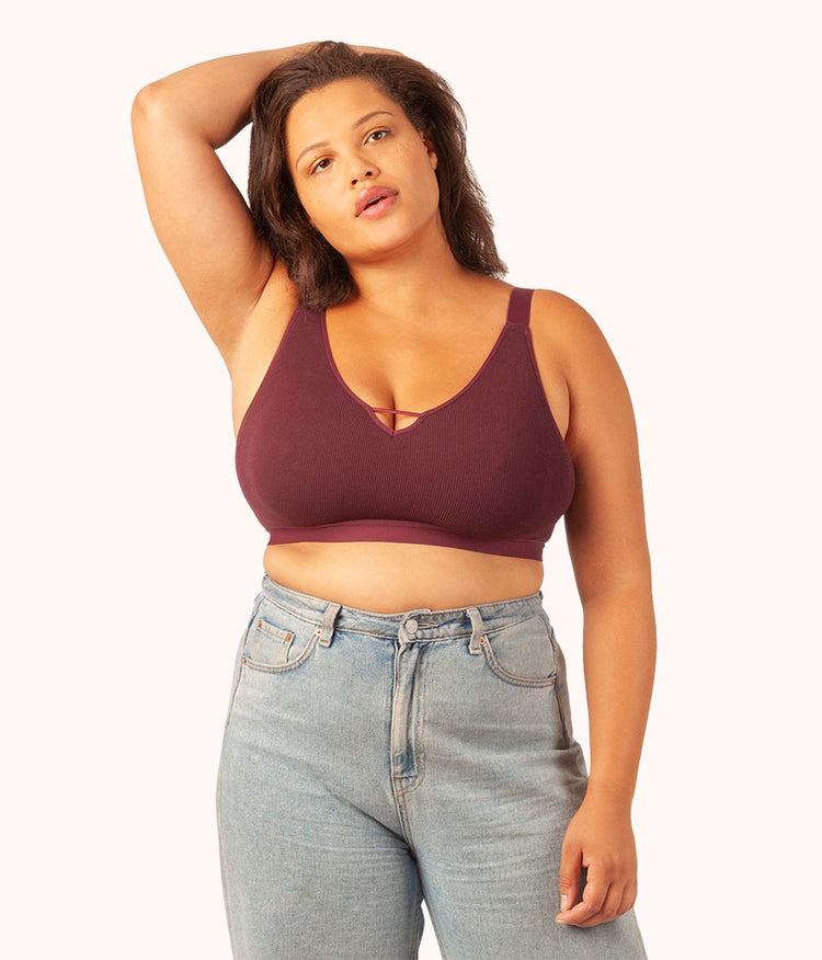 The Seamless Busty Bralette: Eggplant