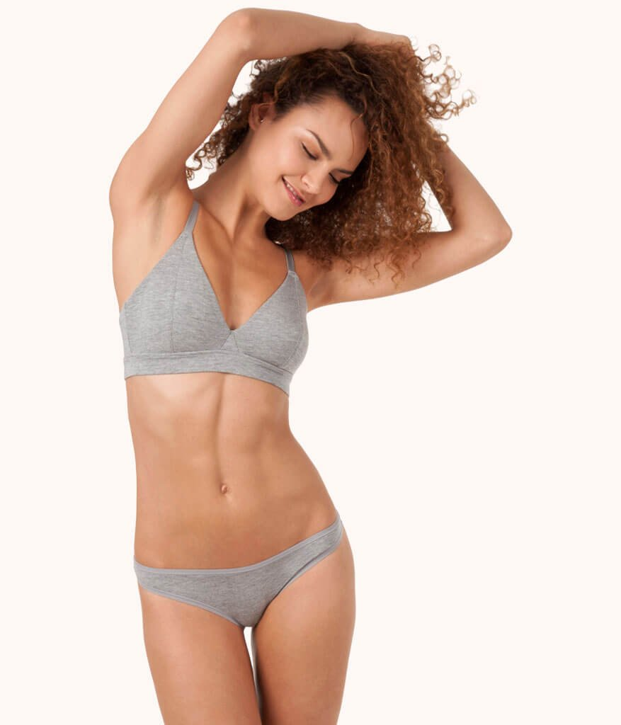 9b3aede9466c5 The Triangle Bralette - Heather Gray