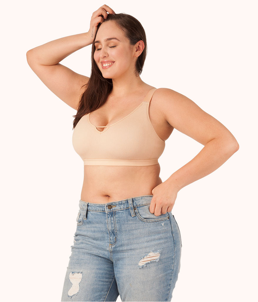 7206931aebd4f The Seamless Busty Bralette  Toasted Almond