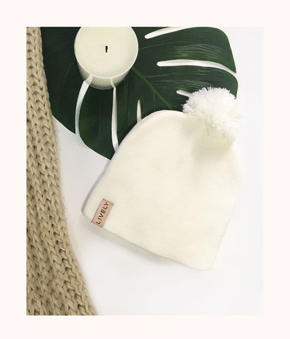 The It-Girl Beanie: Fresh White