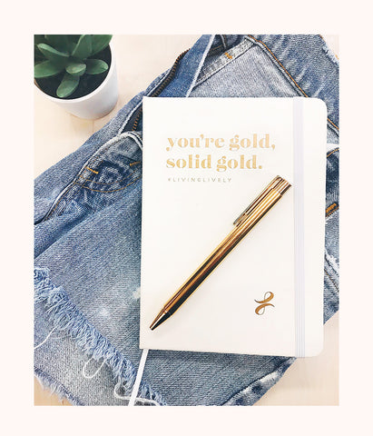 The LIVELY Notebook: Gold Baby
