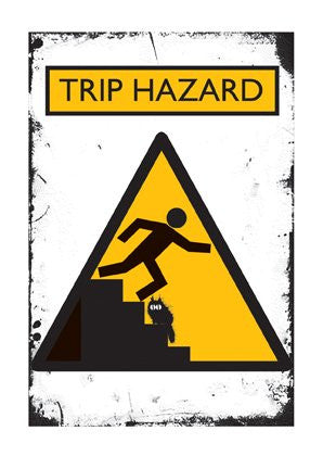 Trip Hazard greeting card