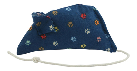 Pawprints Catnip Mouse - Blue